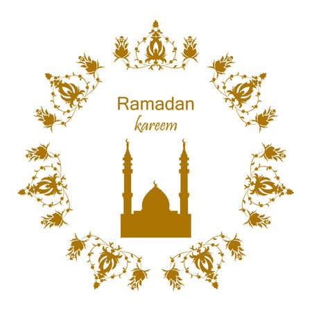 Ramadan greetings card. Vector illustration