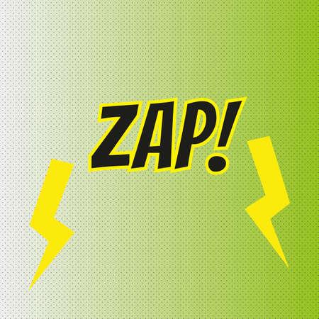 Pop art comics ZAP speech bubble.