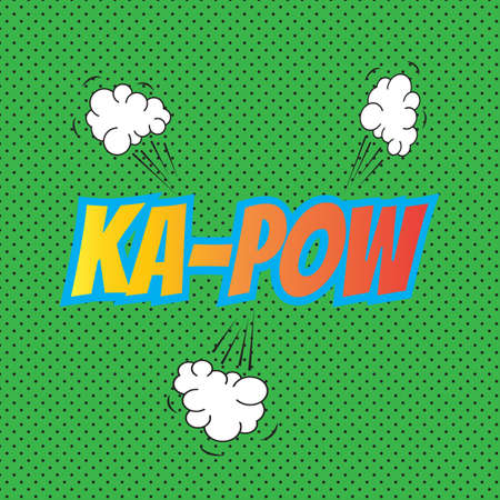 kapow: Pop art comics kapow speech bubble