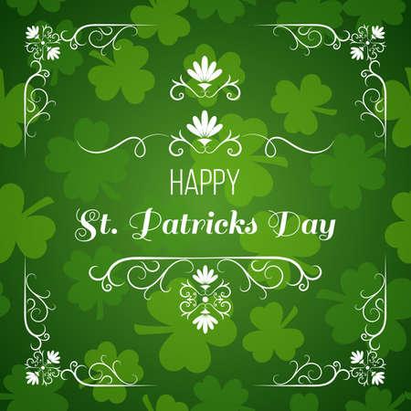 seamless clover: Saint Patrick s day greeting card design Illustration