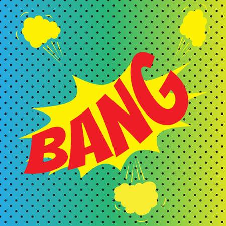 Pop art comics Bang speech bubble. Vector illustration