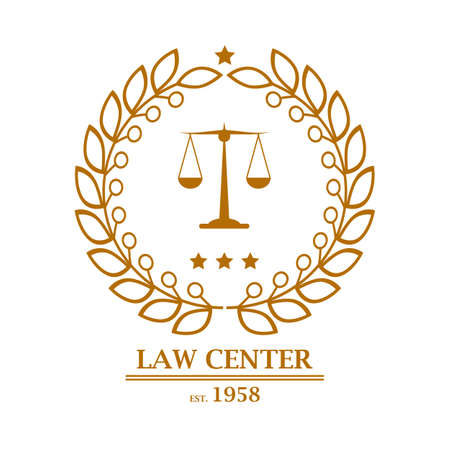 Law firm, office, center logo design Vector illustration Illustration