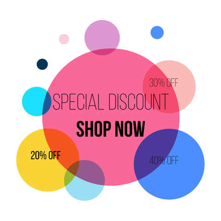 Super sale circle banner, poster, special offer, discount Vector illustration