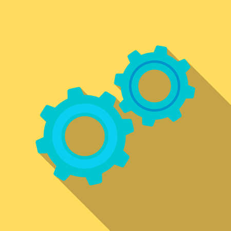 Gear mechanism icon in flat style Illustration