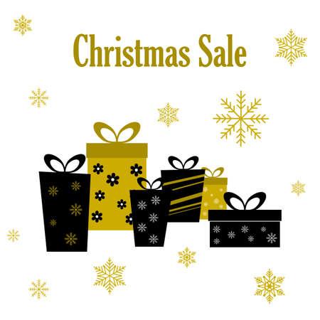 Christmas sale label design template. Vector illustration