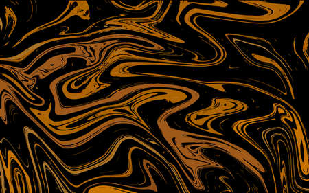 Abstract liquid texture, golden marble background