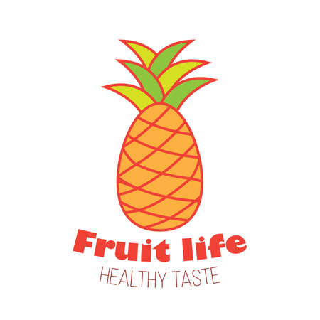 Pineapple fruit logo design