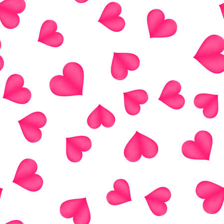 Happy valentines day background with hearts. Vector Illustration