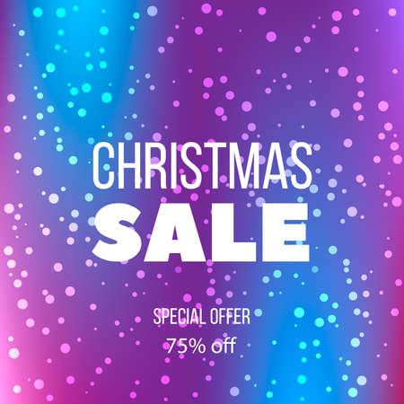 Big winter sale poster, special offer, discount. Vector illustration