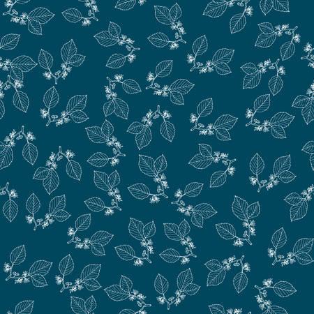 Modèle sans couture avec hamamélis, plante médicinale. Illustration vectorielle botanique dessinés à la main