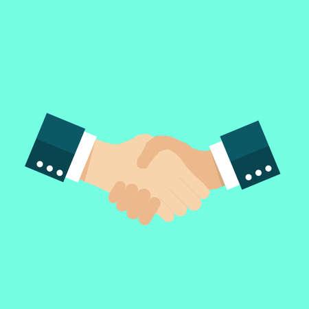 Handshake icon, agreement symbol