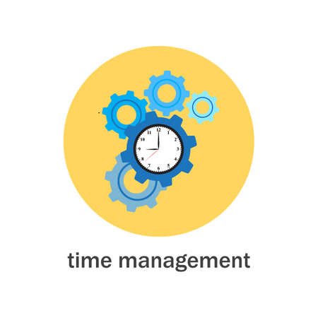 Time management icon Stock Vector - 124891754