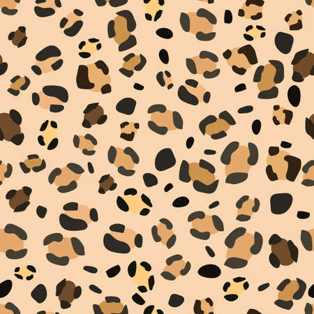 Seamless leopard pattern for web design