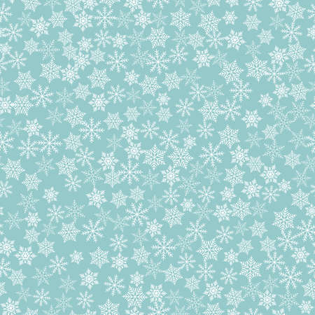 Winter snowflakes background, seamless pattern. Vector illustration Banco de Imagens - 124991084