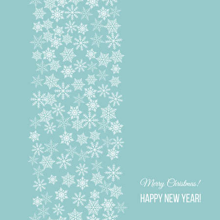 Merry Christmas and Happy New Year greeting card, banner, vector illustration  イラスト・ベクター素材