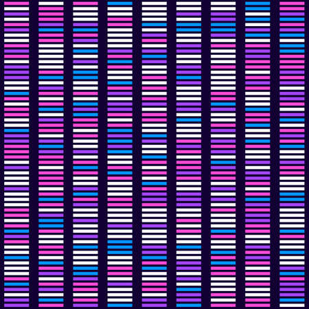 Genome science structure visualization, DNA test background. Vector illustration