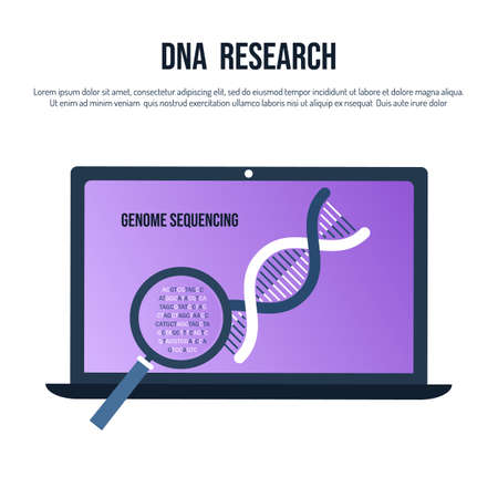 Genetic engineering and genome sequencing concept Ilustração