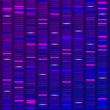 Genomwissenschaftliche Strukturvisualisierung, DNA-Testhintergrund. Vektor-Illustration Vektorgrafik