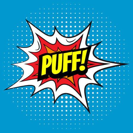 Pop art comics Puff speech bubble. Vector illustration