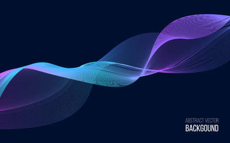 Abstract background with color wave design element