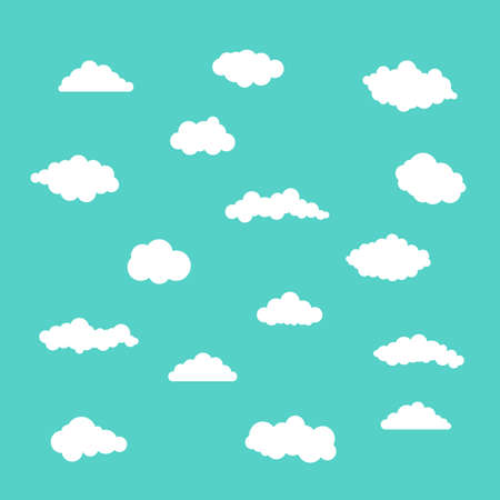 White clouds set on blue background 스톡 콘텐츠 - 133566403