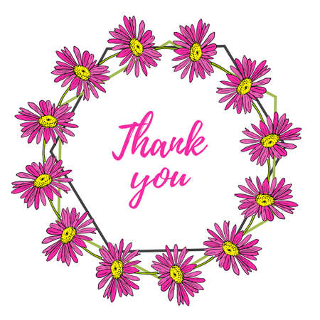 Thank you vector greeting card