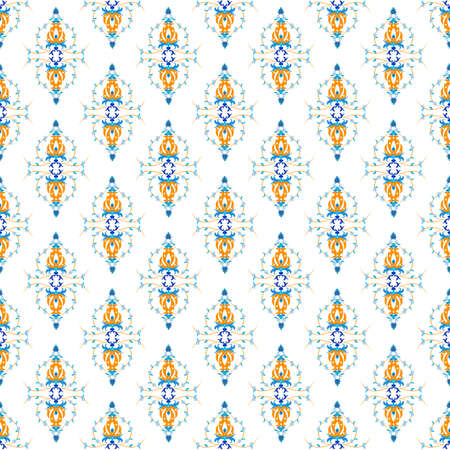Oriental seamless pattern with arabesque and floral elements 向量圖像