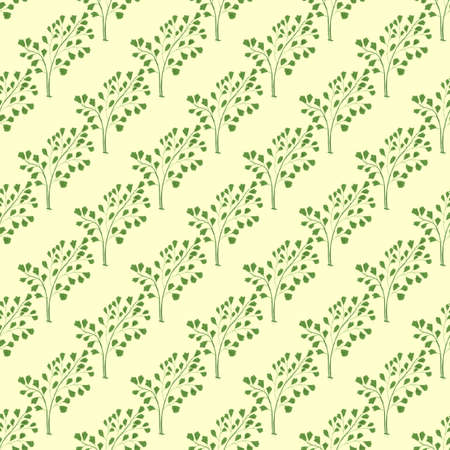 Seamless pattern with venus hair fern.