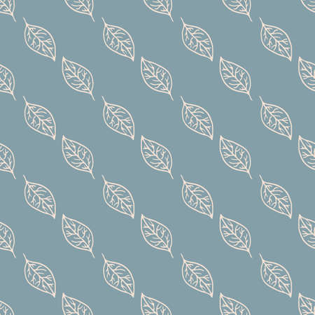 Seamless pattern with hand drawn floral element. Vectores