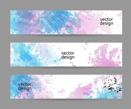 Set of banner templates, modern abstract design. Vector illustration Vectores