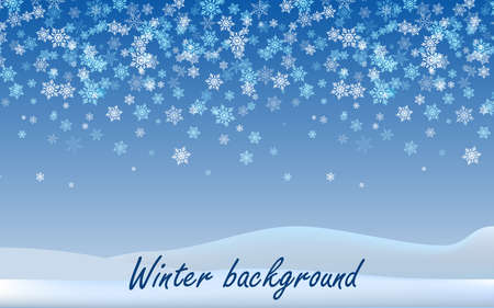 Abstract winter Christmas background with snowflakes. Vector illustration Vectores