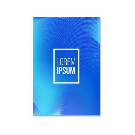 Colored broshure cover with gradient. Vector illustration