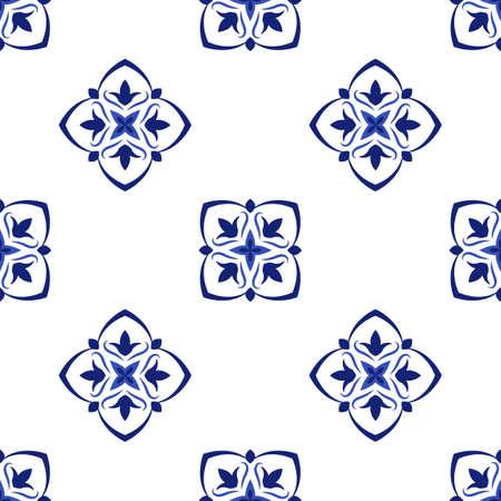 Azulejos portuguese traditional ornamental tile