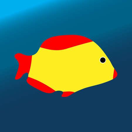 Tropical color sea fish Vectores