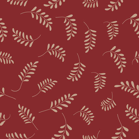 Tropic seamless pattern with color leaves