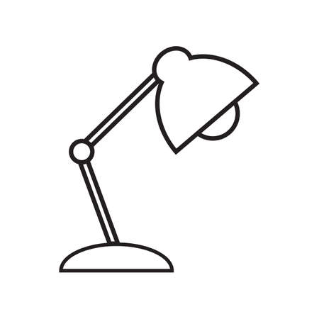 Reading-lamp, line icon on white background