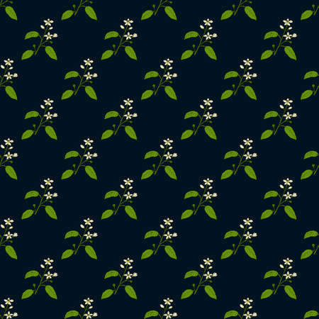 Seamless pattern with orange flowers and leaves 向量圖像