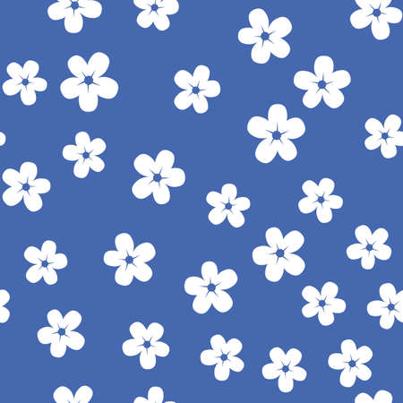 Seamless pattern with white flowers Иллюстрация
