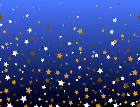 Gold and white stars on a dark background