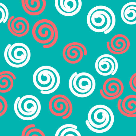 Seamless pattern with doodle curls Иллюстрация