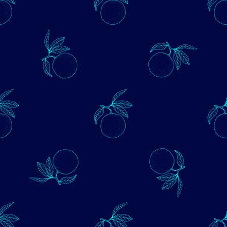 Seamless pattern with orange fruit Иллюстрация