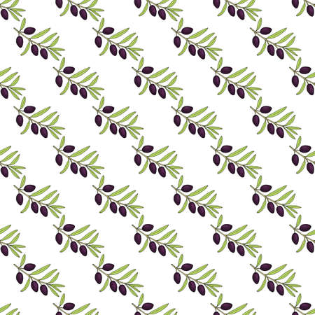 Seamless olive branch pattern