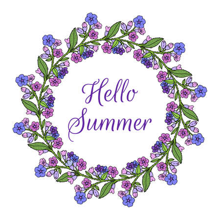 Hello summer, wreath of lungwort, medicinal plant