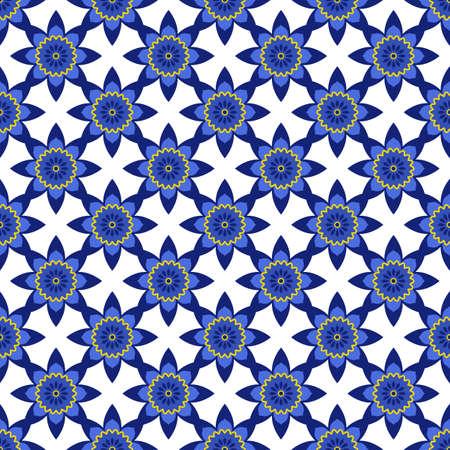Azulejos portuguese traditional ornamental tile Standard-Bild - 164375422