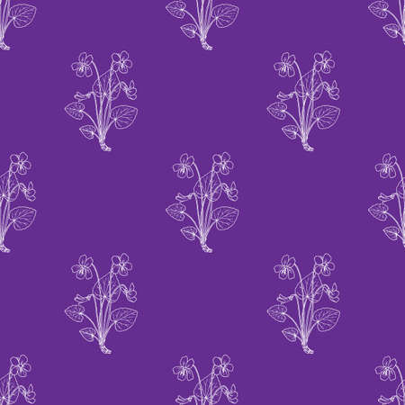 Seamless pattern with blue violet