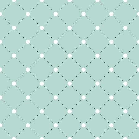 veil: White and black veil seamless pattern on turquoise or mint background. Vector Illustration Illustration