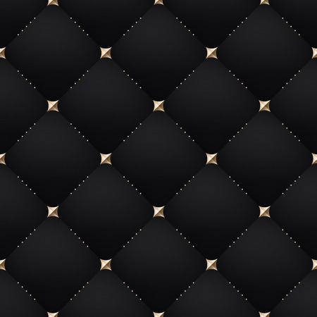 texture leather: Seamless luxury dark black pattern and background. Vector Illustration Illustration