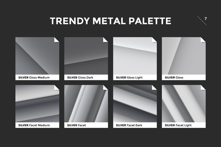 Silver gradient template
