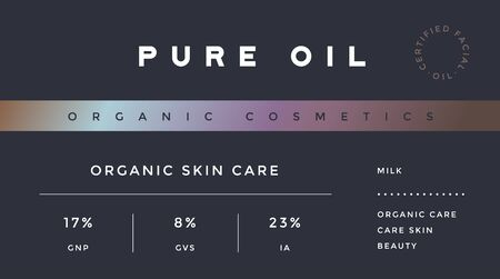 Minimal Label. Typographic modern vintage label, tag, sticker for natural brand, beauty packing. Retro design minimal label, tag of organic cosmetics, old school style, typography. Vector Illustration 版權商用圖片 - 145055107