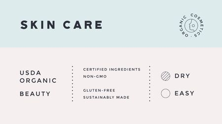 Minimal Label. Typographic modern vintage label, tag, sticker for natural brand, beauty packing. Retro design minimal label, tag of organic cosmetics, old school style, typography. Vector Illustration 版權商用圖片 - 145170766